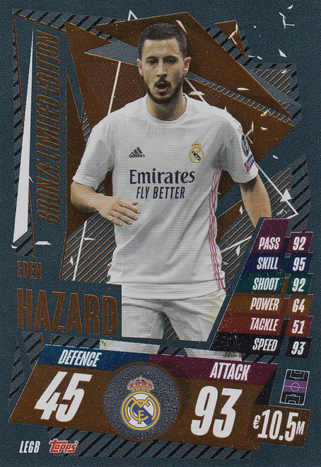 #LE6B Eden Hazard (Real Madrid CF) Match Attax Champions League 2020/21 BRONZE LIMITED EDITION