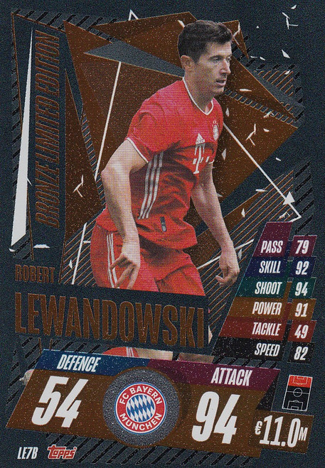 #LE7B Robert Lewandowski (FC Bayern Munchen) Match Attax Champions League 2020/21 BRONZE LIMITED EDITION