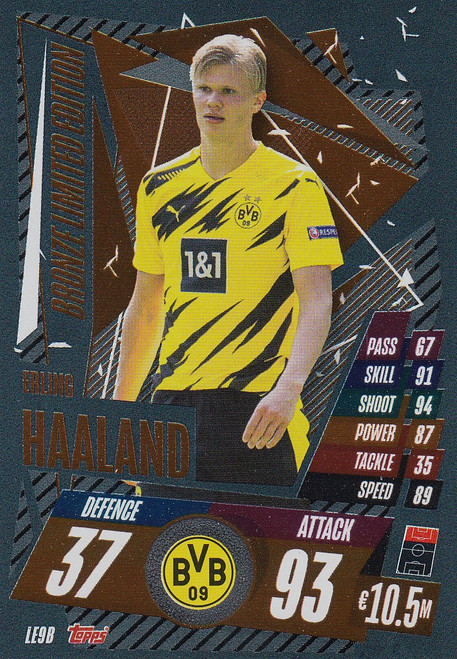 #LE9B Erling Braut Haaland (Borussia Dortmund) Match Attax Champions League 2020/21 BRONZE LIMITED EDITION