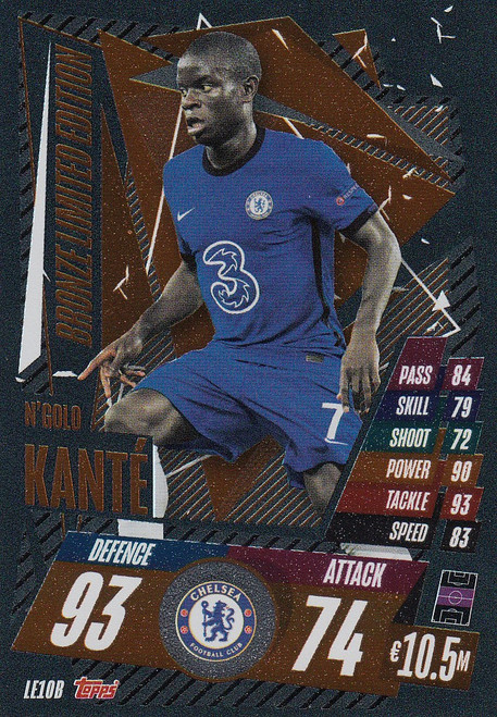 #LE10B N'Golo Kante (Chelsea) Match Attax Champions League 2020/21 BRONZE LIMITED EDITION