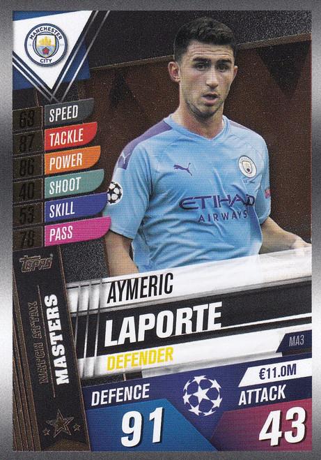 #MA3 Aymeric Laporte (Manchester City) Match Attax 101 2019/20 MATCH ATTAX MASTERS