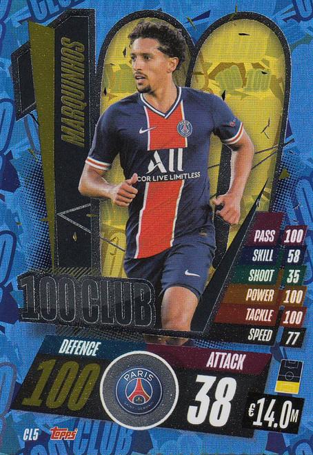 #CL5 Marquinhos (Paris Saint-Germain) Match Attax Champions League 2020/21 100 CLUB