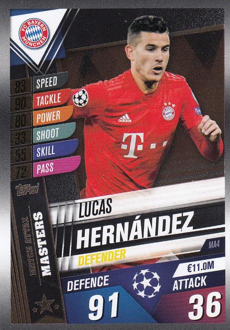 #MA4 Lucas Hernandez (FC Bayern Munchen) Match Attax 101 2019/20 MATCH ATTAX MASTERS