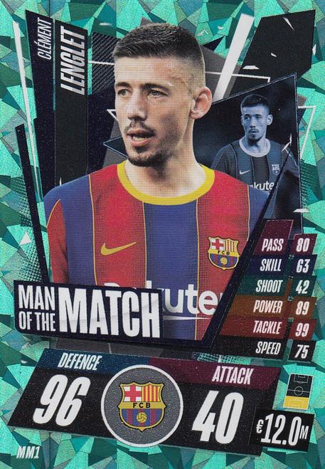 #MM1 Clément Lenglet (FC Barcelona) Match Attax Champions League 2020/21 MAN OF THE MATCH