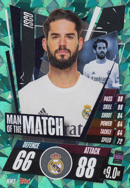 #MM2 Isco (Real Madrid CF) Match Attax Champions League 2020/21 MAN OF THE MATCH