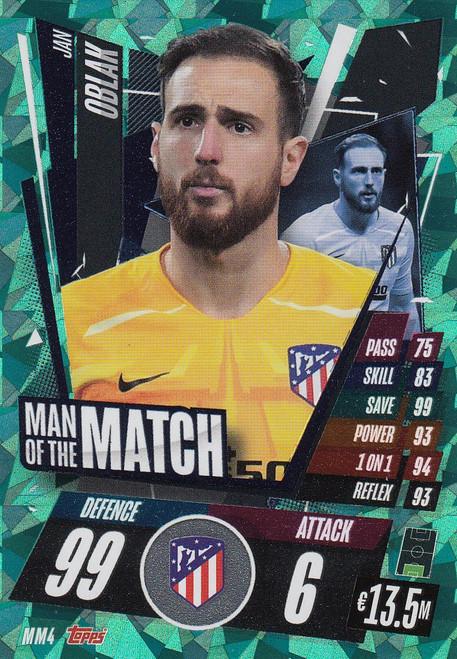 #MM4 Jan Oblak (Atlético de Madrid) Match Attax Champions League 2020/21 MAN OF THE MATCH