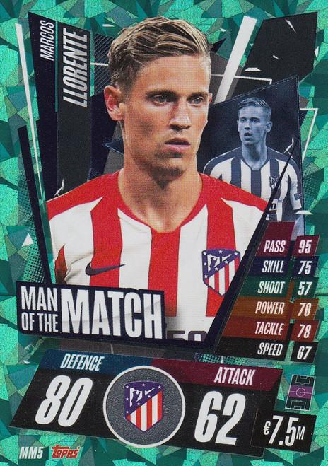 #MM5 Marcos Llorente (Atlético de Madrid) Match Attax Champions League 2020/21 MAN OF THE MATCH