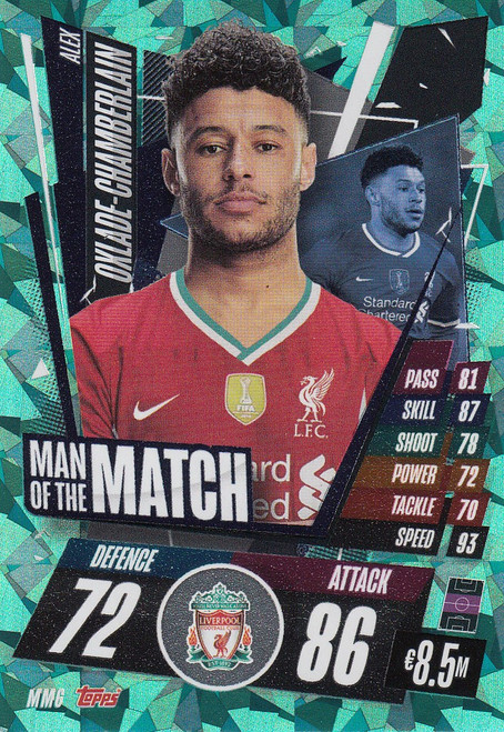 #MM6 Alex Oxlade-Chamberlain (Liverpool) Match Attax Champions League 2020/21 MAN OF THE MATCH