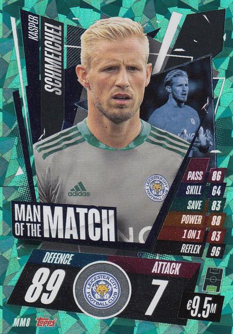 #MM8 Kasper Schmeichel (Leicester City) Match Attax Champions League 2020/21 MAN OF THE MATCH
