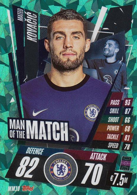 #MM10 Mateo Kovačić (Chelsea) Match Attax Champions League 2020/21 MAN OF THE MATCH