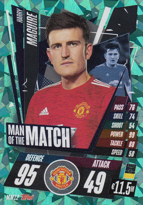 #MM12 Harry Maguire (Manchester United) Match Attax Champions League 2020/21 MAN OF THE MATCH