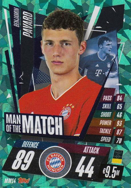 #MM14 Benjamin Pavard (FC Bayern München) Match Attax Champions League 2020/21 MAN OF THE MATCH