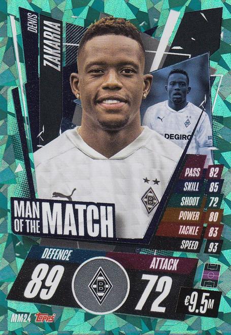#MM24 Denis Zakaria (VfL Borussia Mönchengladbach) Match Attax Champions League 2020/21 MAN OF THE MATCH