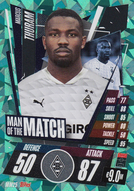 #MM25 Marcus Thuram (VfL Borussia Mönchengladbach) Match Attax Champions League 2020/21 MAN OF THE MATCH