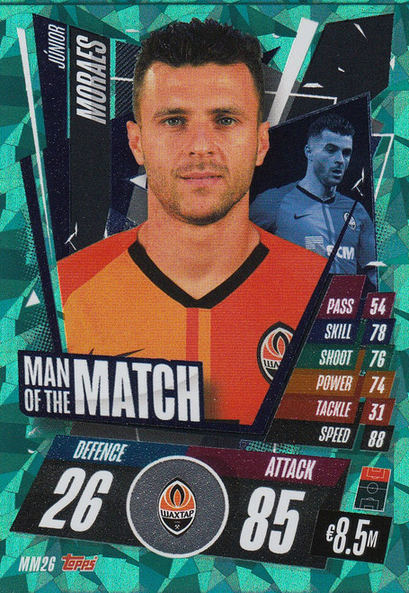 #MM26 Júnior Moraes (FC Shakhtar Donetsk) Match Attax Champions League 2020/21 MAN OF THE MATCH