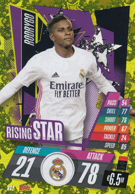 #RS2 Rodrygo (Real Madrid CF) Match Attax Champions League 2020/21 RISING STAR