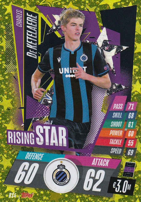 #RS4 Charles De Ketelaere (Club Brugge) Match Attax Champions League 2020/21 RISING STAR