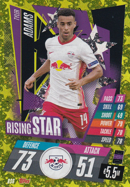 #RS6 Tyler Adams (RB Leipzig) Match Attax Champions League 2020/21 RISING STAR