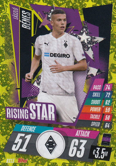 #RS13 Laszlo Benes (VfL Borussia Mönchengladbach) Match Attax Champions League 2020/21 RISING STAR