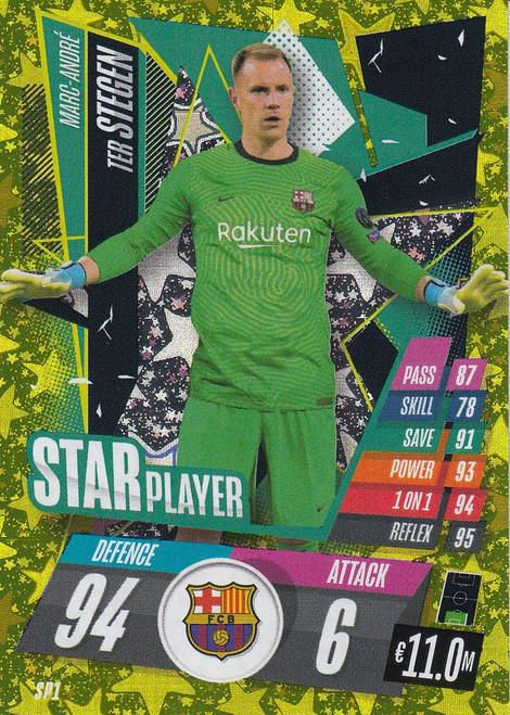 #SP1 Marc-André Ter Stegen (FC Barcelona)Match Attax Champions League 2020/21 STAR PLAYER