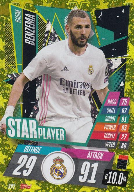 #SP2 Karim Benzema (Real Madrid CF) Match Attax Champions League 2020/21 STAR PLAYER