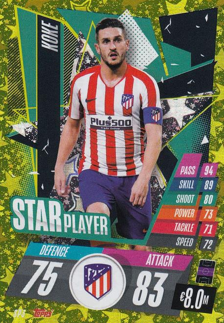 #SP3 Koke (Atlético de Madrid) Match Attax Champions League 2020/21 STAR PLAYER