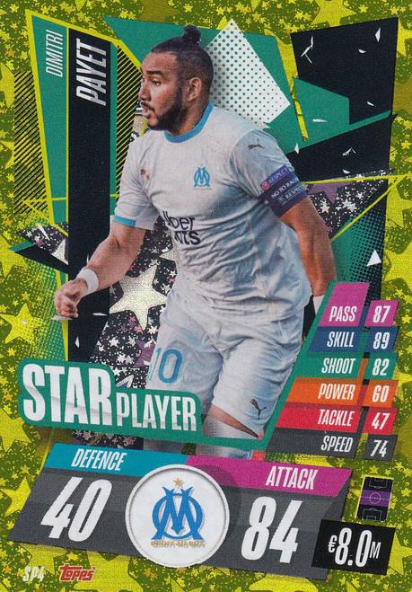 #SP4 Dimitri Payet (Olympique de Marseille) Match Attax Champions League 2020/21 STAR PLAYER