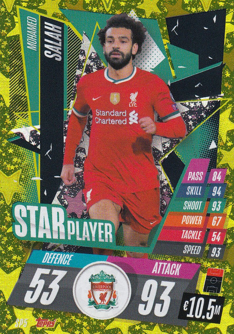#SP5 Mohamed Salah (Liverpool) Match Attax Champions League 2020/21 STAR PLAYER