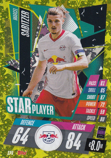 #SP6 Marcel Sabitzer (RB Leipzig) Match Attax Champions League 2020/21 STAR PLAYER