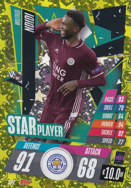 #SP7 Wilfred Ndidi (Leicester City) Match Attax Champions League 2020/21 STAR PLAYER