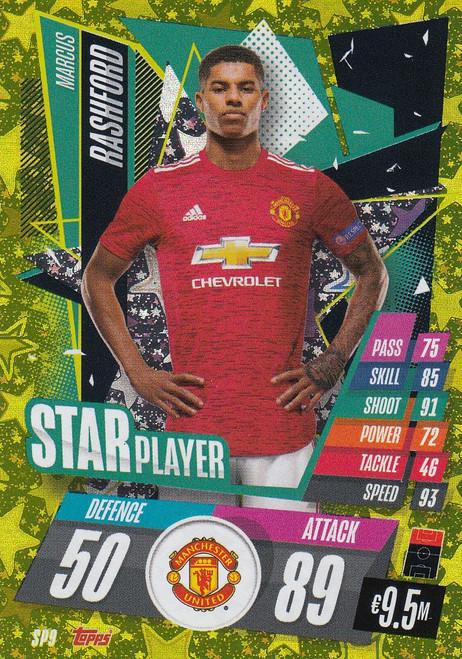 #SP9 Marcus Rashford (Manchester United) Match Attax Champions League 2020/21 STAR PLAYER