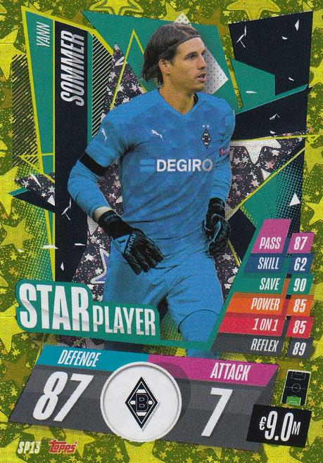 #SP13  Yann Sommer (VfL Borussia Mönchengladbach) Match Attax Champions League 2020/21 STAR PLAYER