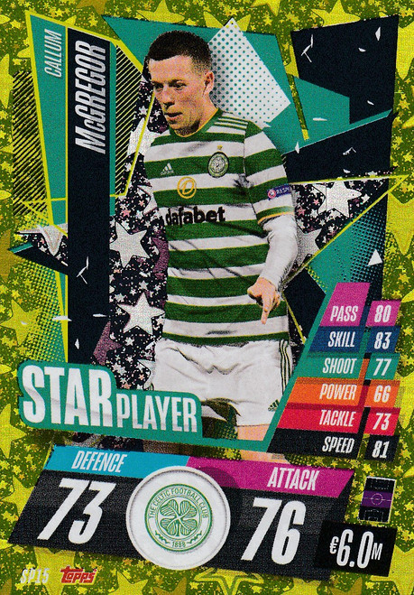 #SP15 Callum McGregor (Celtic FC) Match Attax Champions League 2020/21 STAR PLAYER