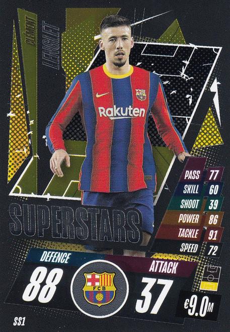 #SS1 Clément Lenglet (FC Barcelona) Match Attax Champions League 2020/21 SUPERSTAR