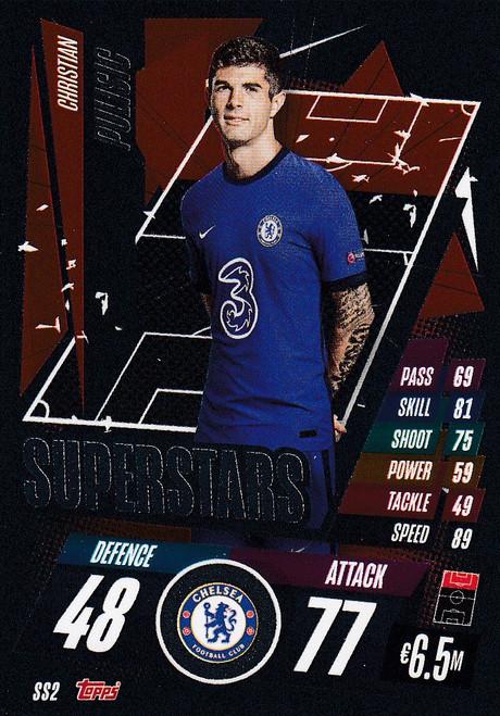 #SS2 Christian Pulisic (Chelsea) Match Attax Champions League 2020/21 SUPERSTAR