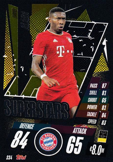 #SS4 David Alaba (FC Bayern München) Match Attax Champions League 2020/21 SUPERSTAR