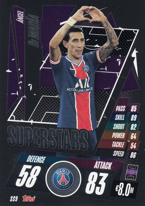 #SS9 Ángel Di María (Paris Saint-Germain) Match Attax Champions League 2020/21 SUPERSTAR
