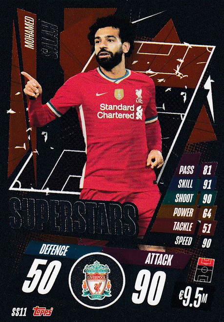 #SS11 Mohamed Salah (Liverpool) Match Attax Champions League 2020/21 SUPERSTAR