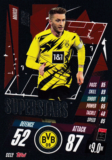 #SS12 Marco Reus (Borussia Dortmund) Match Attax Champions League 2020/21 SUPERSTAR