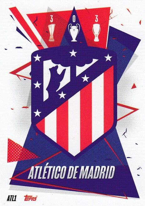 #ATL1 Club Badge (Atlético de Madrid) Match Attax Champions League 2020/21