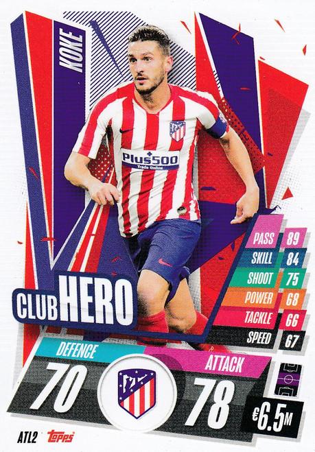 #ATL2 Koke (Atlético de Madrid) Match Attax Champions League 2020/21 CLUB HERO