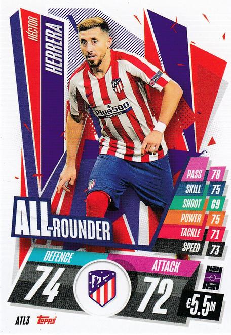 #ATL3 Héctor Herrera (Atlético de Madrid) Match Attax Champions League 2020/21 ALL ROUNDER