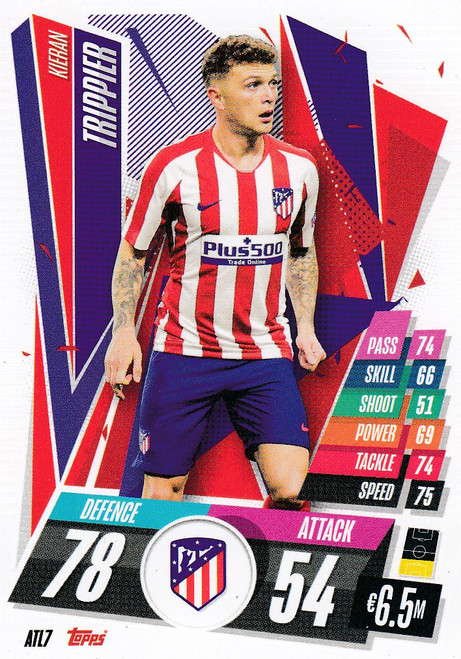 #ATL7 Kieran Trippier (Atlético de Madrid) Match Attax Champions League 2020/21