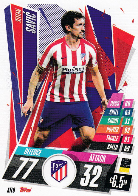 #ATL8 Stefan Savić (Atlético de Madrid) Match Attax Champions League 2020/21