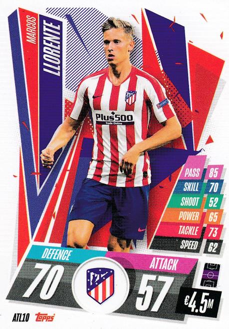 #ATL10 Marcos Llorente (Atlético de Madrid) Match Attax Champions League 2020/21