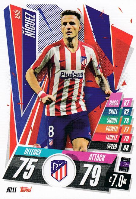 #ATL11 Saúl Ñíguez (Atlético de Madrid) Match Attax Champions League 2020/21
