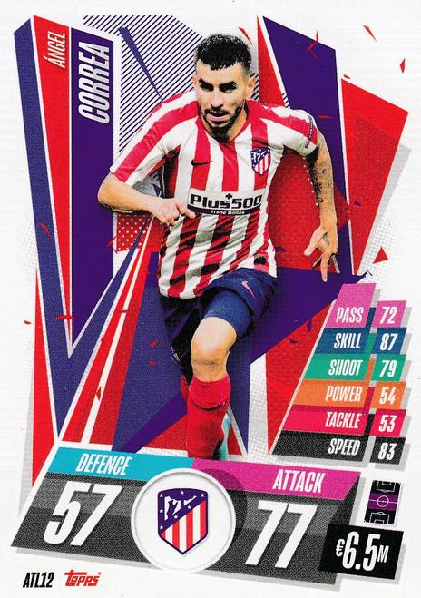 #ATL12 Ángel Correa (Atlético de Madrid) Match Attax Champions League 2020/21