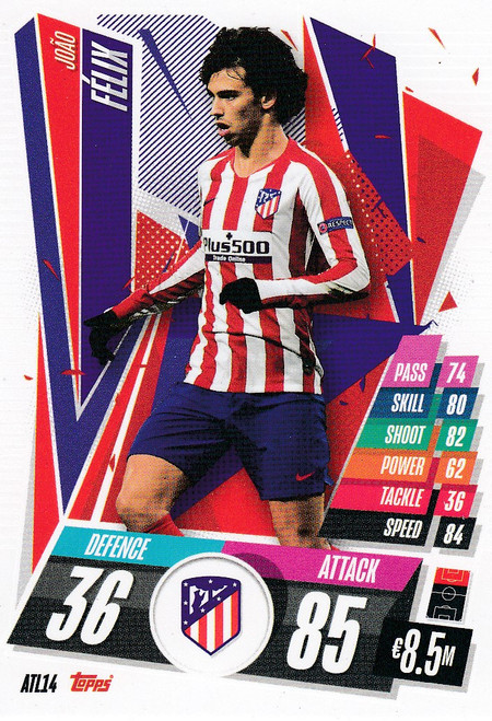 #ATL14 João Félix (Atlético de Madrid) Match Attax Champions League 2020/21