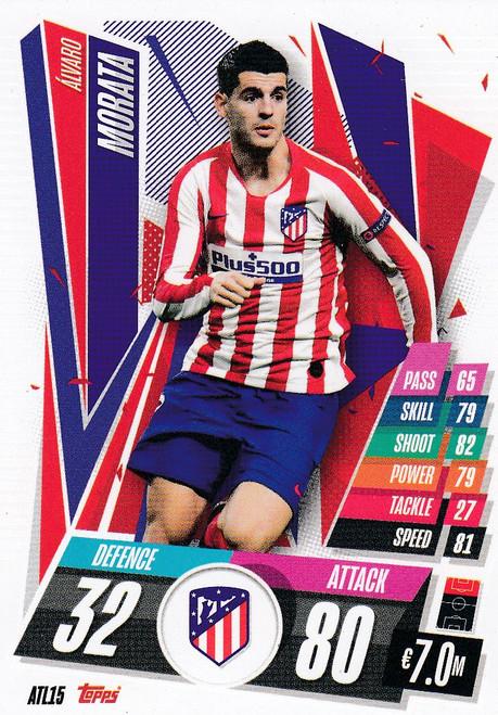 #ATL15 Alvaro Morata (Atlético de Madrid) Match Attax Champions League 2020/21