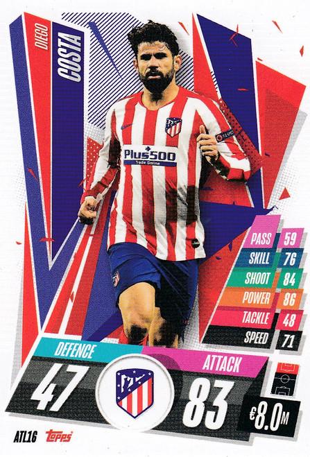 #ATL16 Diego Costa (Atlético de Madrid) Match Attax Champions League 2020/21
